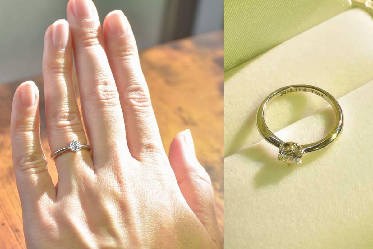 橋野さんの結婚指輪と婚約指輪