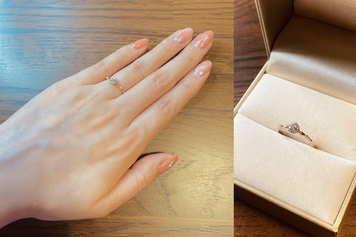 なおさんの結婚指輪と婚約指輪