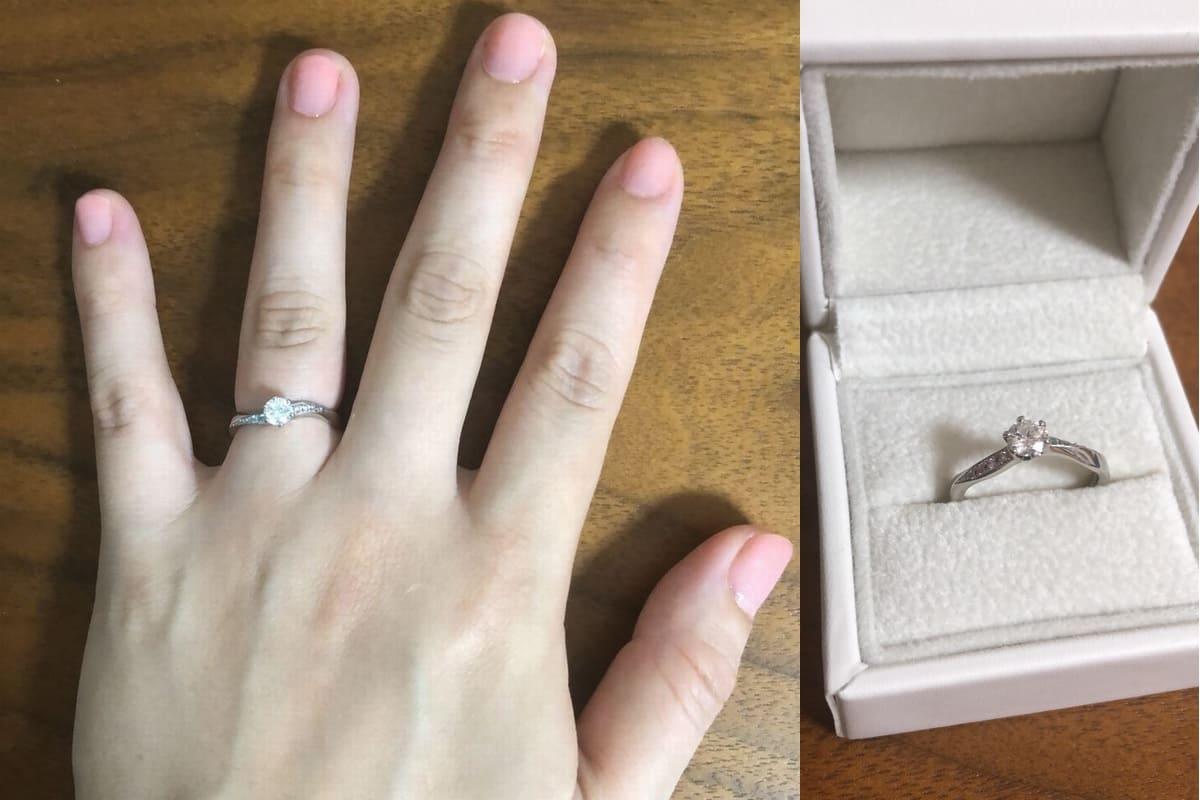 うちもとさんの結婚指輪と婚約指輪(AFFLUX) の口コミ