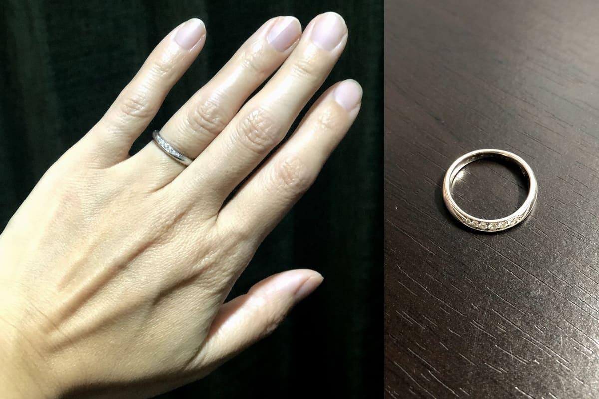 Taroさんの結婚指輪と婚約指輪 スタージュエリー