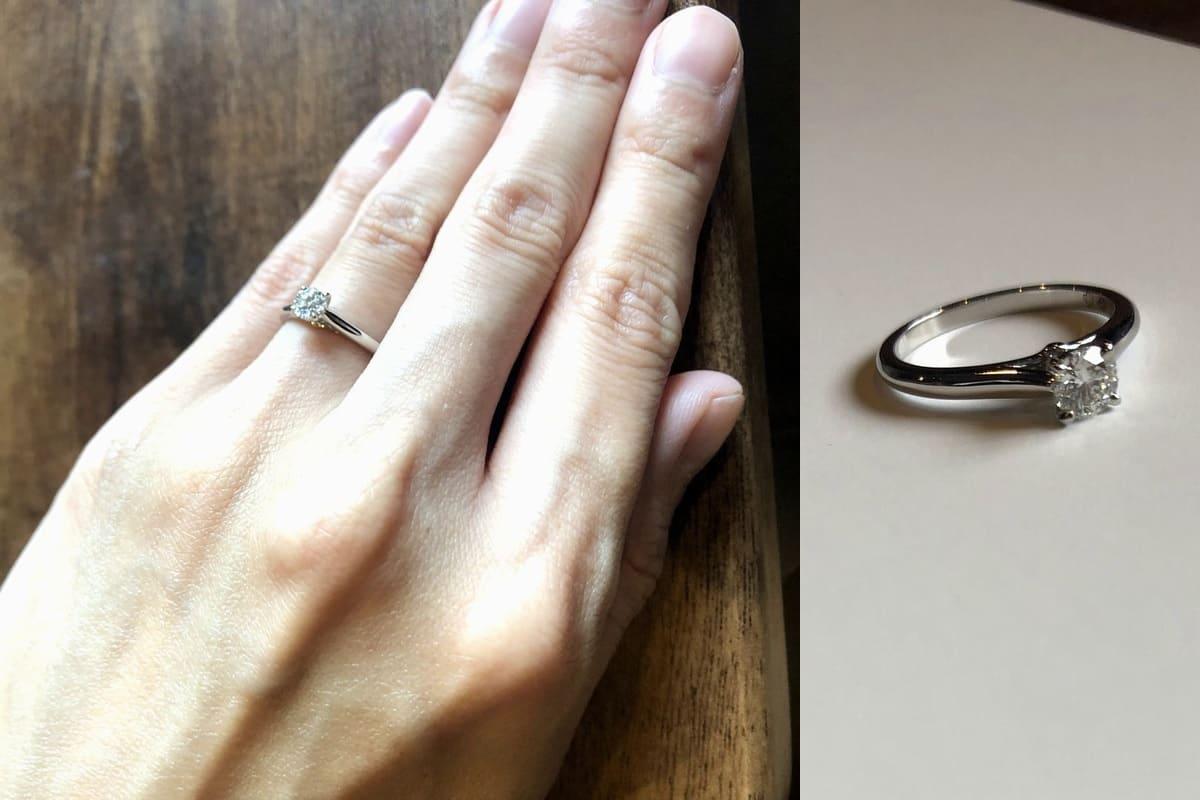 yu-eguさんの結婚指輪(カルティエ)と婚約指輪(カルティエ)