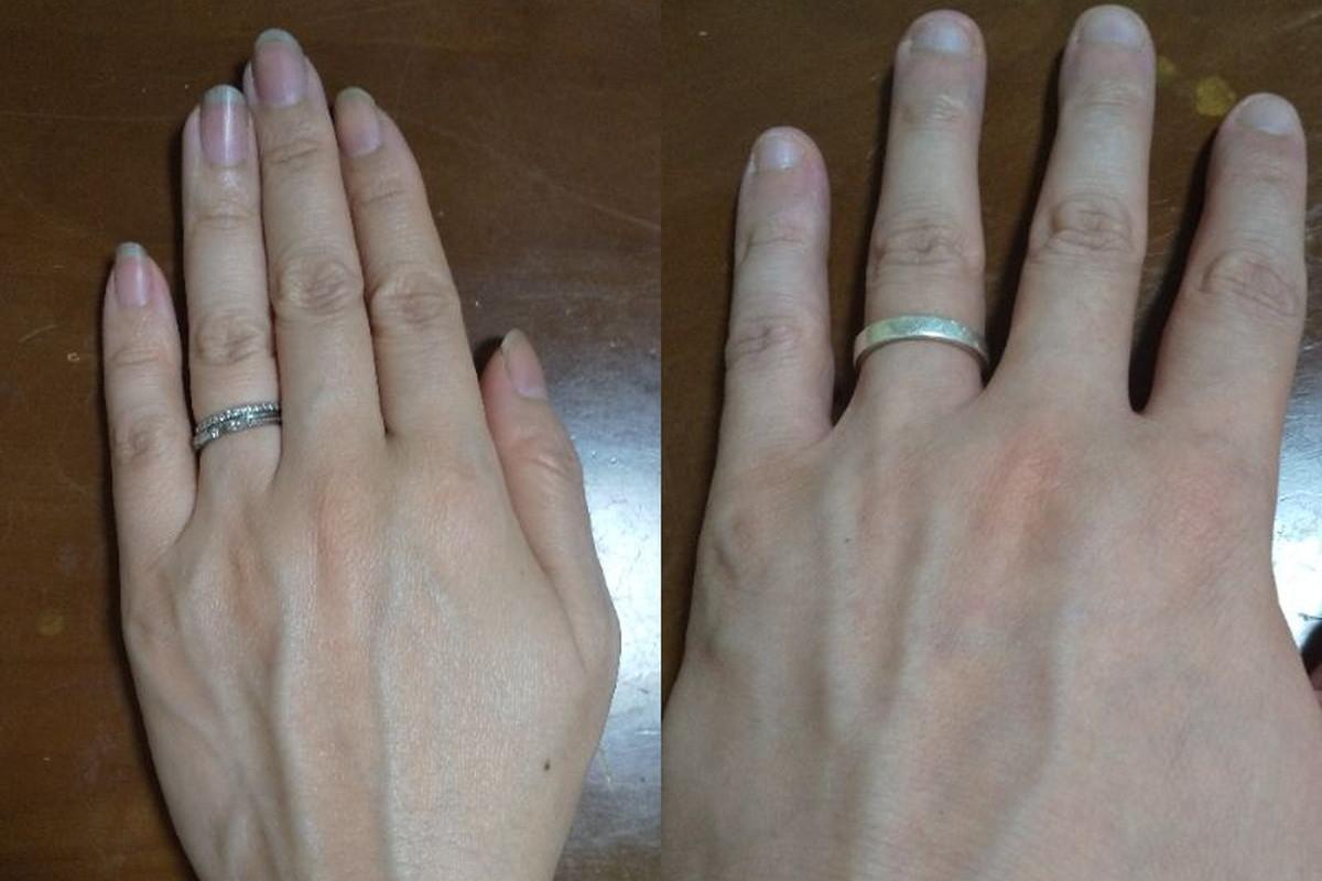 いなようさんの結婚指輪と婚約指輪