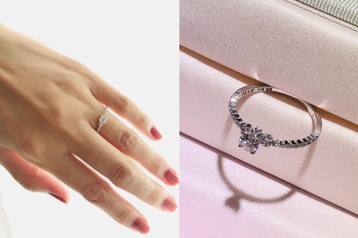 Mari-guruさんの結婚指輪と婚約指輪
