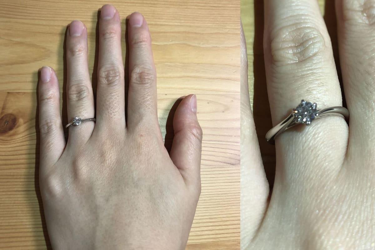 ririkaさんの結婚指輪と婚約指輪