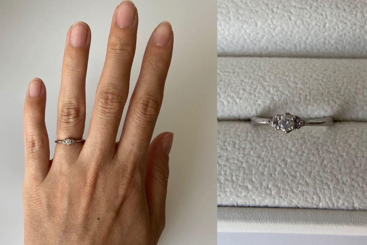 きなさんの結婚指輪(MILK & Strawberry)と婚約指輪(Pink Dolphin Diamond)の口コミ