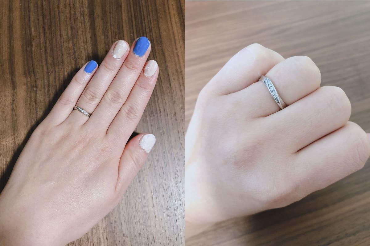 マリーさんの結婚指輪(ROYAL ASSCHER ロイヤル・アッシャー)