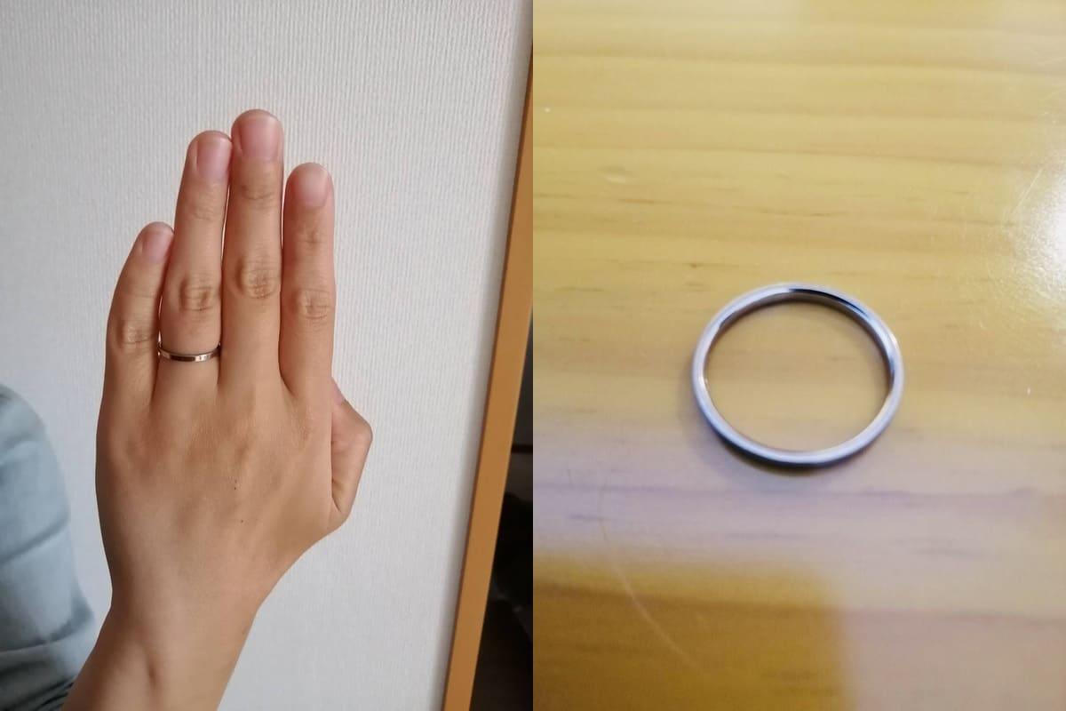 紀州女さんが貰った結婚指輪NIWAKA