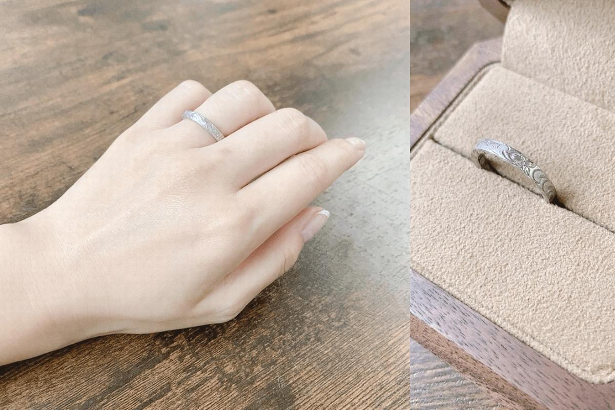 naoさんが貰った結婚指輪