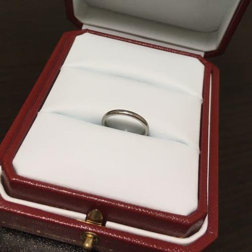 もえぱかさんのカルティエ結婚指輪