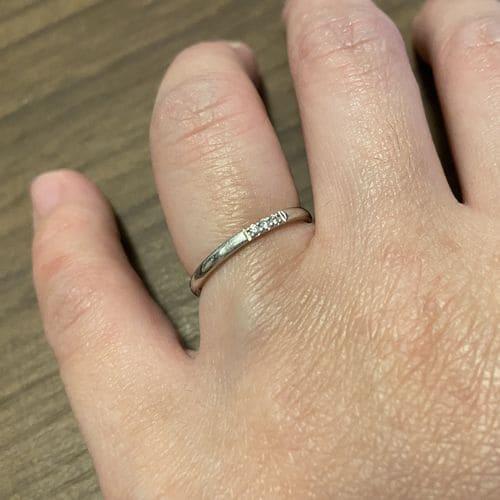もももかさんの結婚指輪(サマンサティアラ)