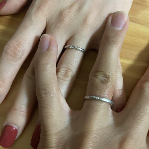 たつやさんの結婚指輪 4°C