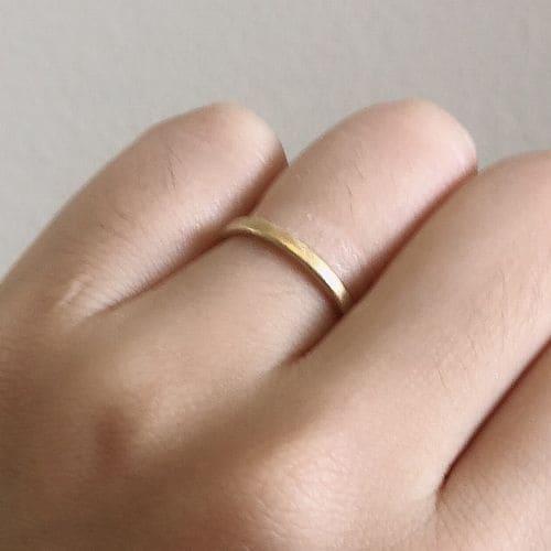 よねこさんの結婚指輪(agete)