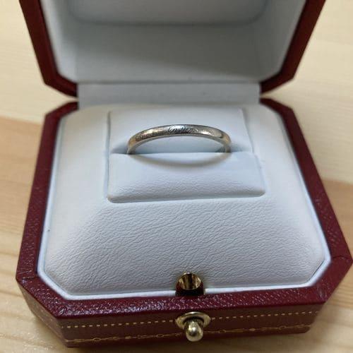かずきさんの結婚指輪(カルティエ)