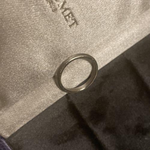 枇杷子さんの結婚指輪chaumet(ショーメ)