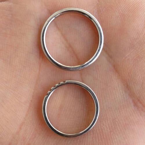 ひとみさんの結婚指輪(4°C)