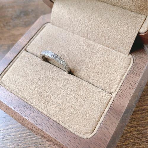 naoさんが貰った結婚指輪アップ